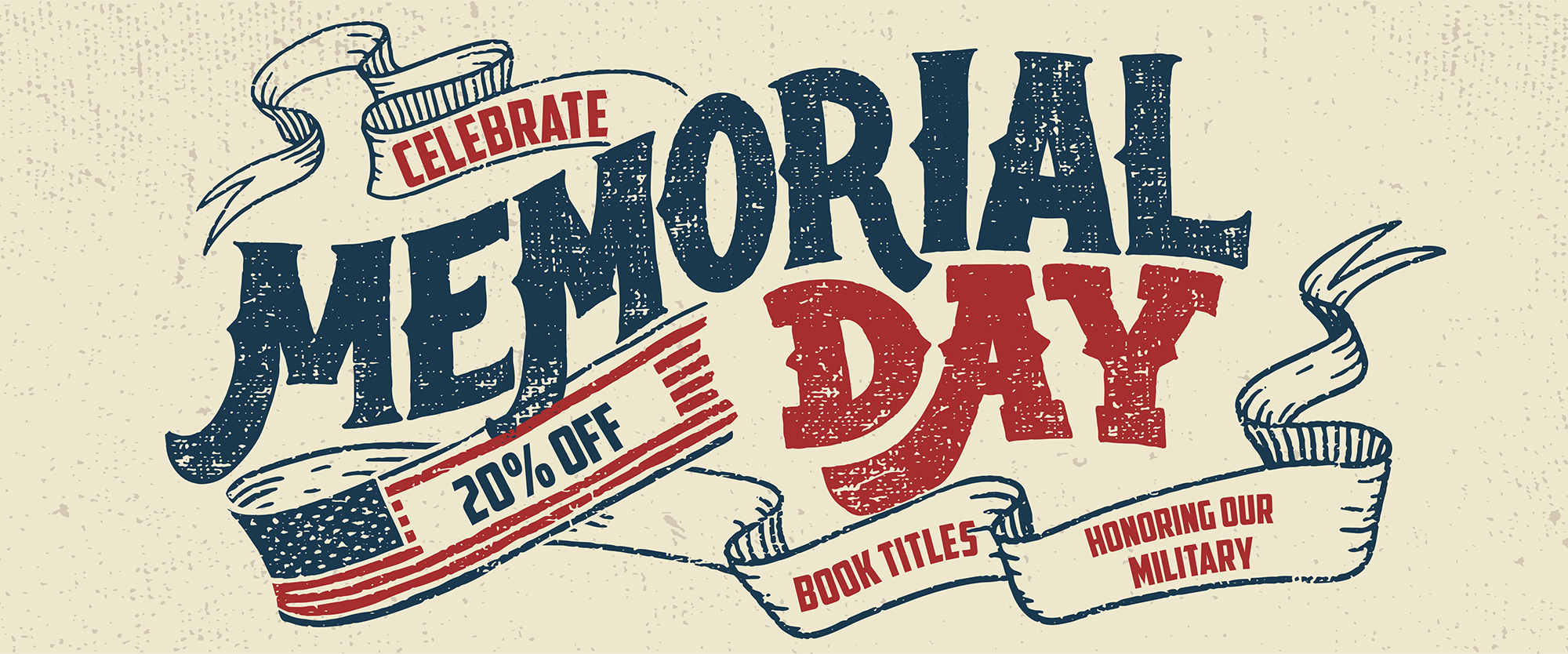 Memorial day books - 20% off