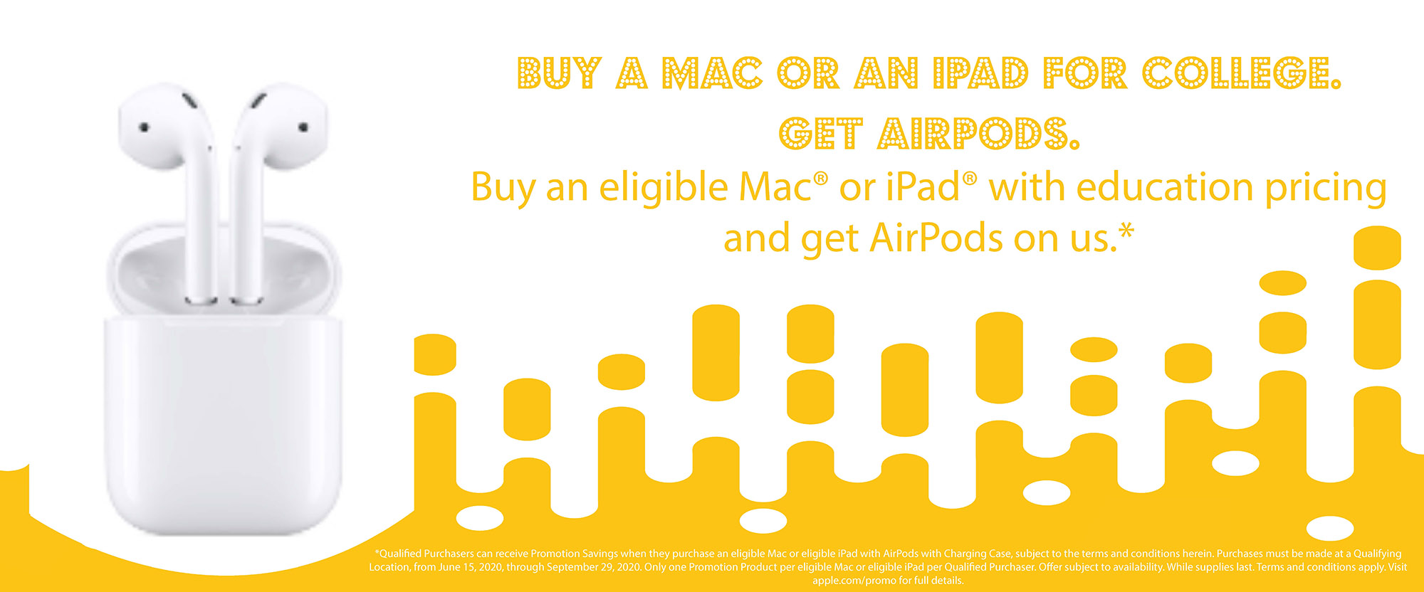 free airpods with qualifying purchase