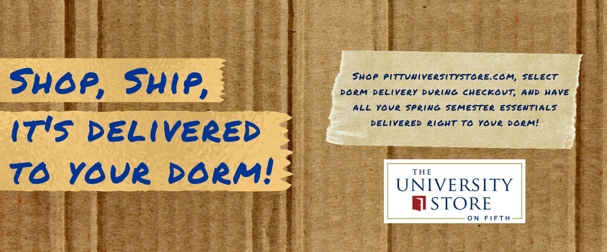 get free delivery to your residence hall
