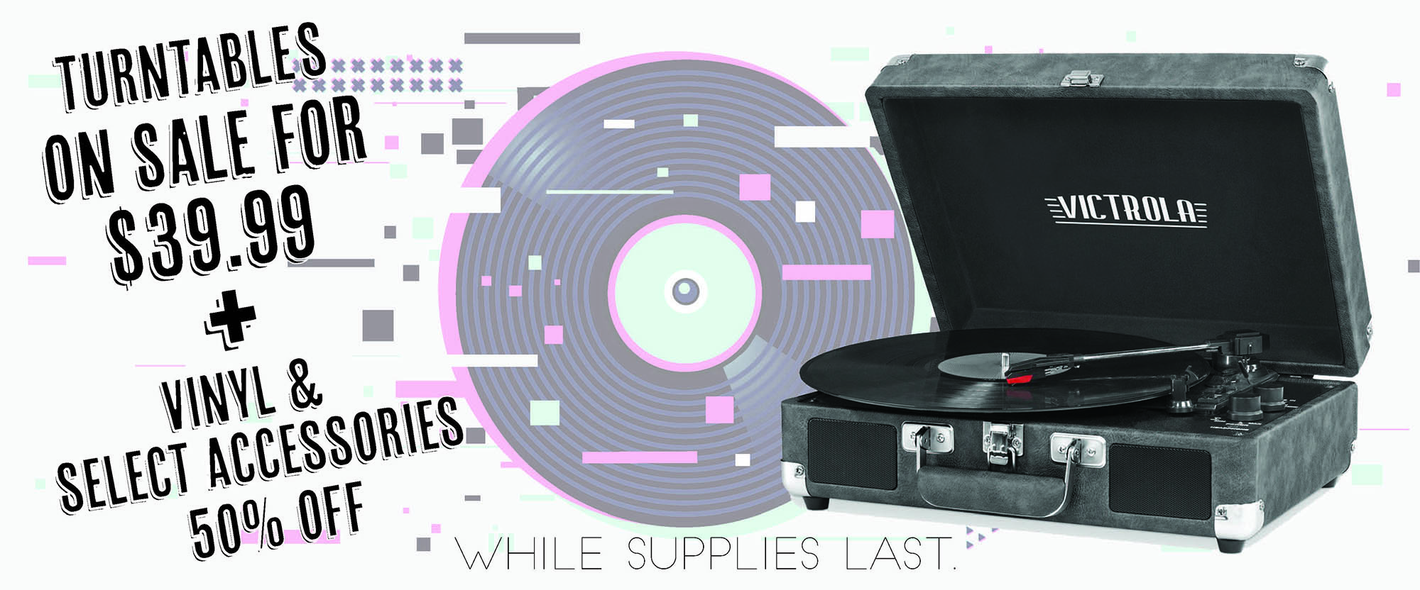 save on turntables this month