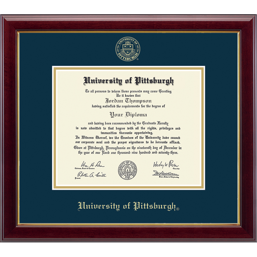 Embossed Diploma Frame in Gallery