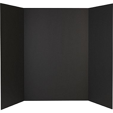 Display Board 3 Fold Black