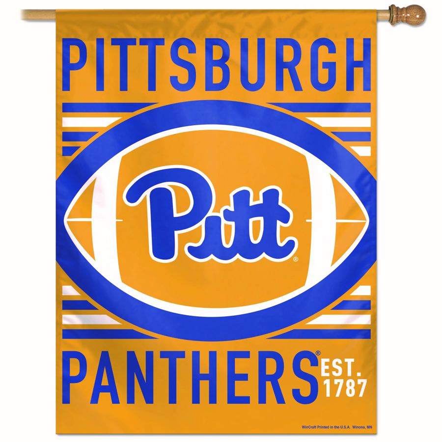 Pitt Script Throwback Vertical Flag
