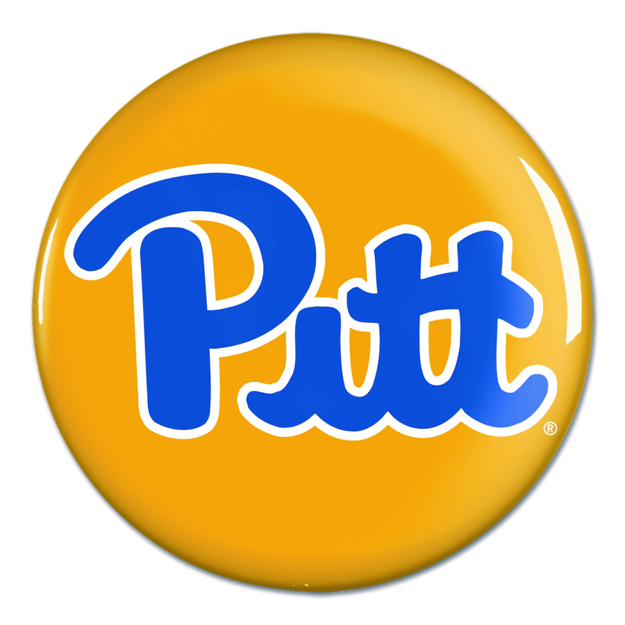 "Pitt Script Throwback 3"" Button"