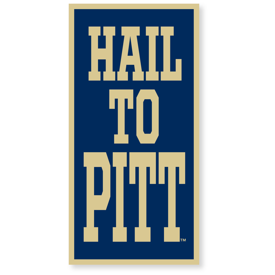 "Collegiate Pacific Banner 18"" x 36"" Hail to Pitt"