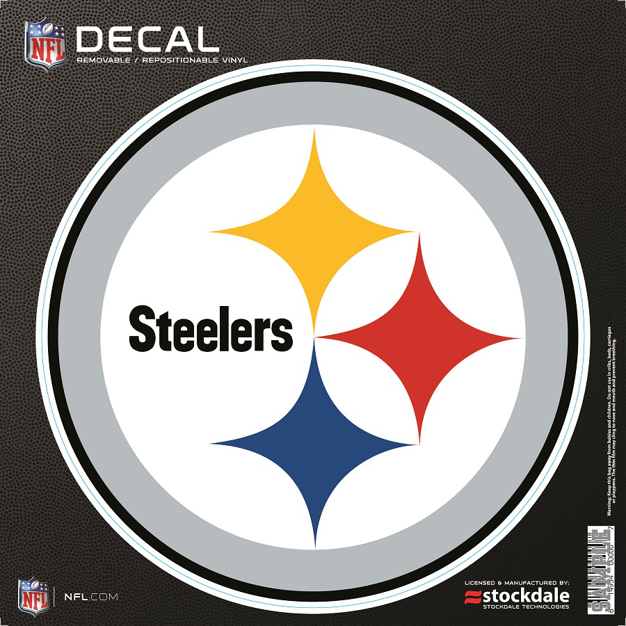 DECAL 6X6 COLOR STEELERS