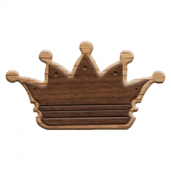 Paddle Tramps Double-Raised Crown Wooden Symbol