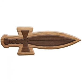 Paddle Tramps Double-Raised Dagger Wooden Symbol