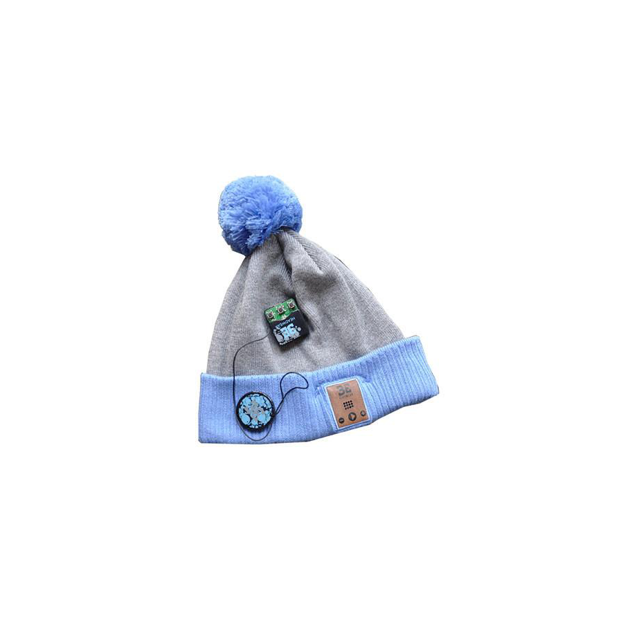 Be Headwear Fiendish Pom - Gray/Blue