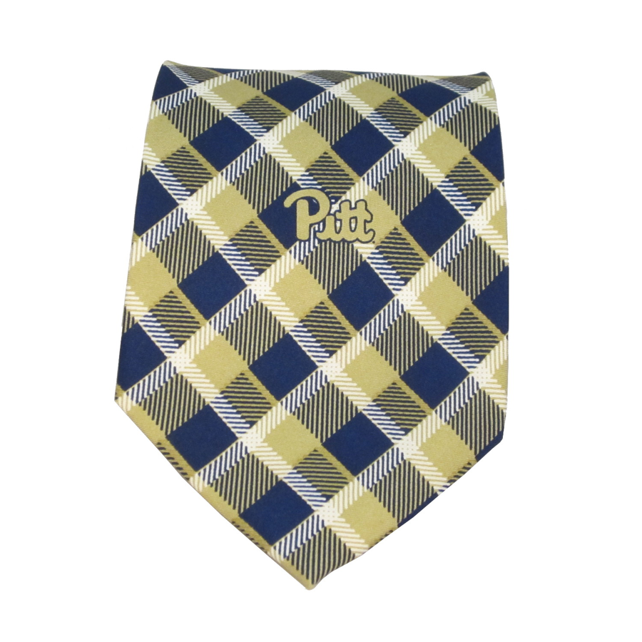 Jardine Men's Pitt Logo Plaid Tie