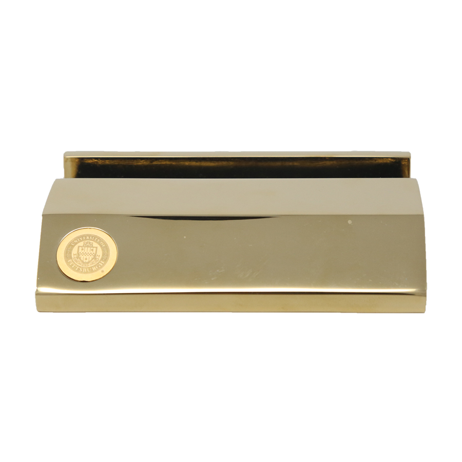 Business card holder gold the university store on fifth gold business card holder colourmoves