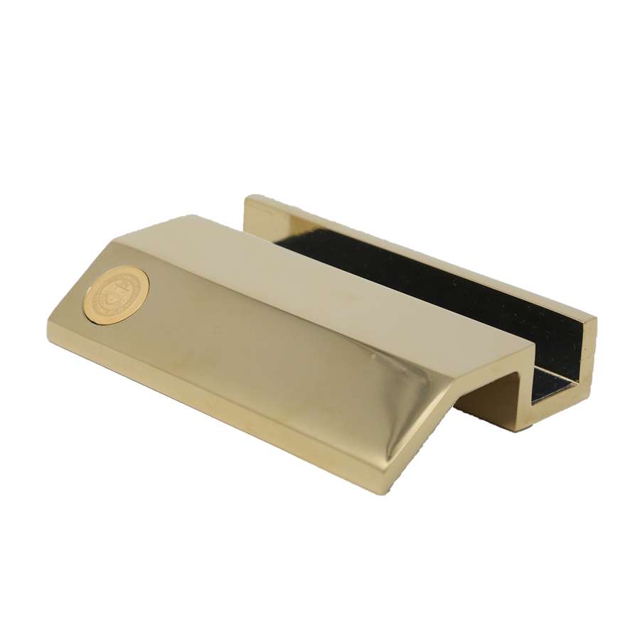 BUSINESS CARD HOLDER GOLD | The University Store on Fifth