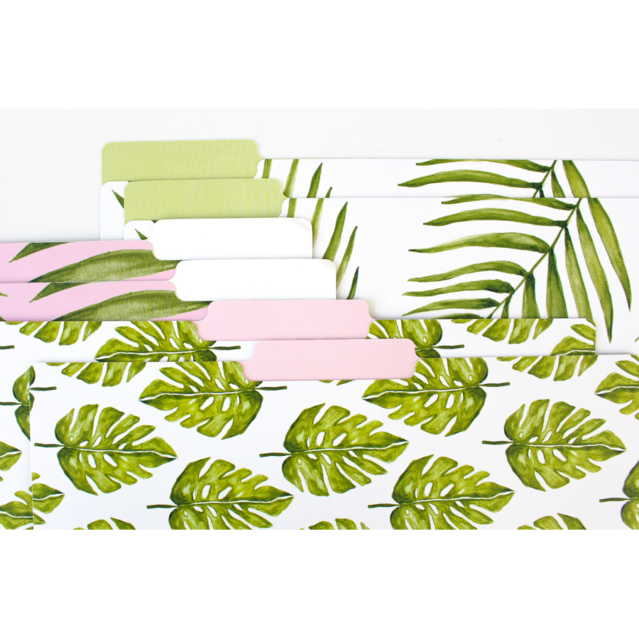 Bloom Palm Printed File Folders