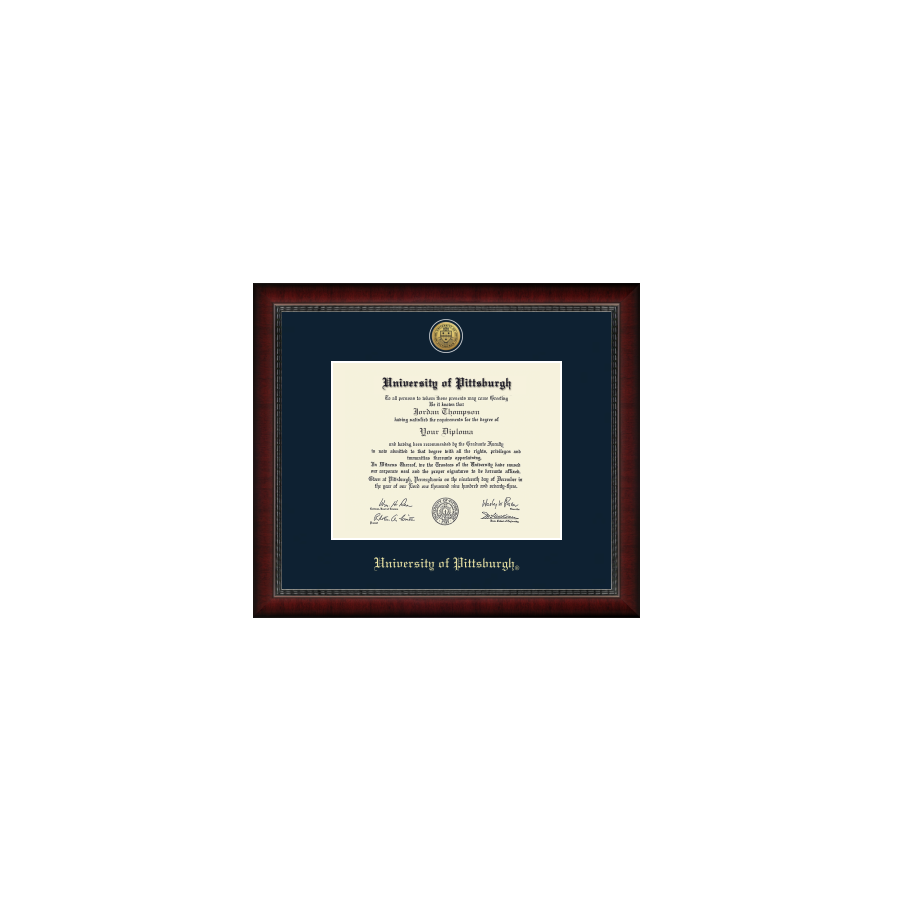 Image For Gold Engraved Medallion Diploma Frame in Sutton