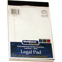 Image For PAD LEGAL 5X8 WHITE