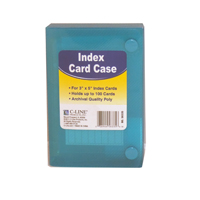 Image For INDEX CARD CASE 3X5 POLY