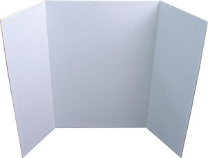Image For Display Board 3 Fold White