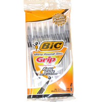 Image For ROUND STIC GRIP BLK 8P