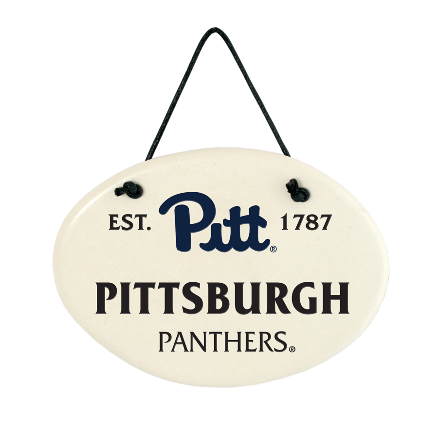 Image For Pitt Panthers Ceramic Wall Plaque