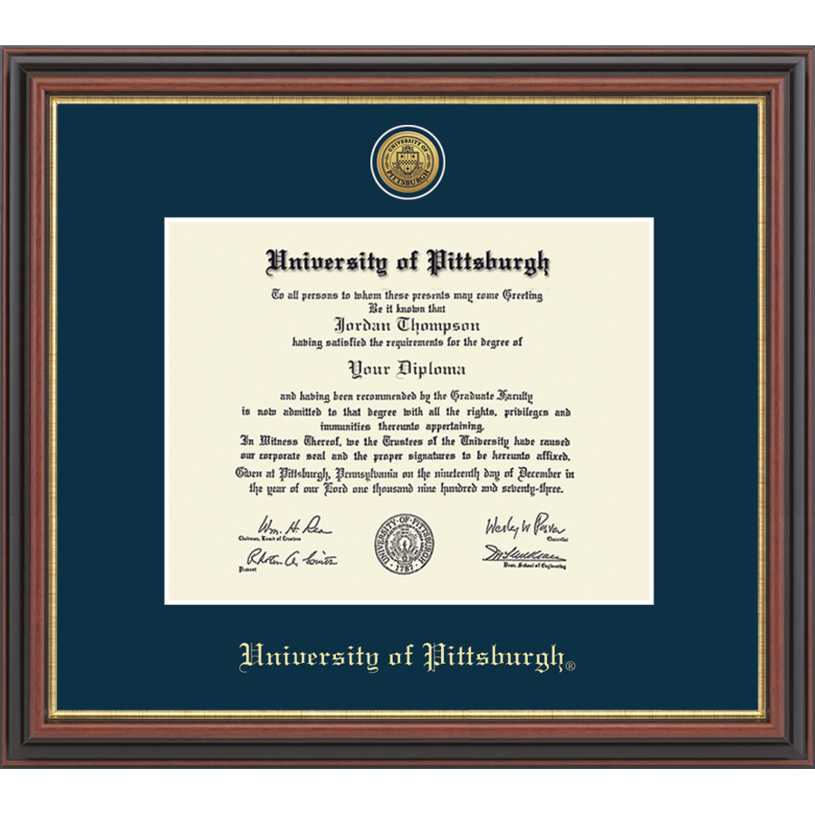 Image For Diploma Frame in Regency Gold Medallion Seal