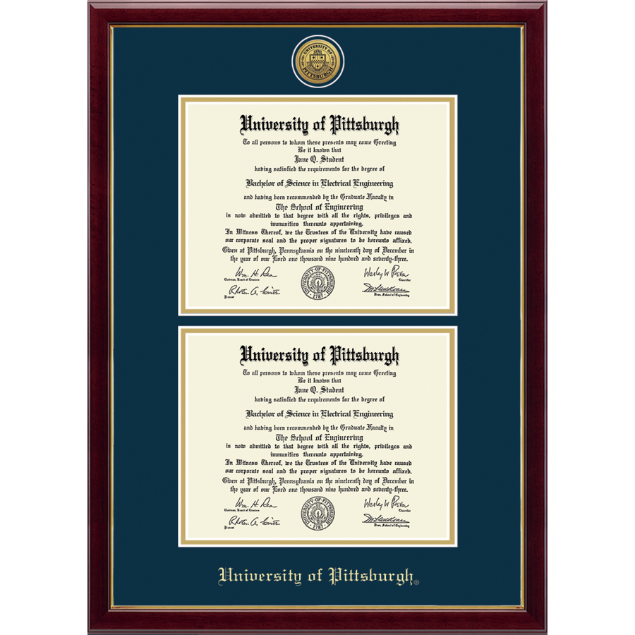 Image For Diploma Frame Gold Engraved Double in Galleria