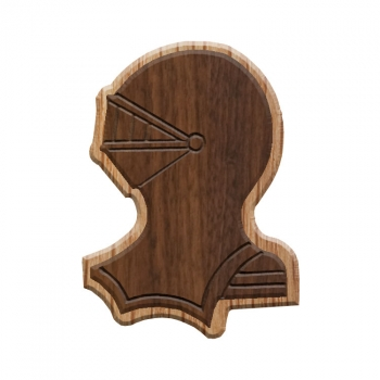 Image For Paddle Tramps Double-Raised Helmet Wooden Symbol