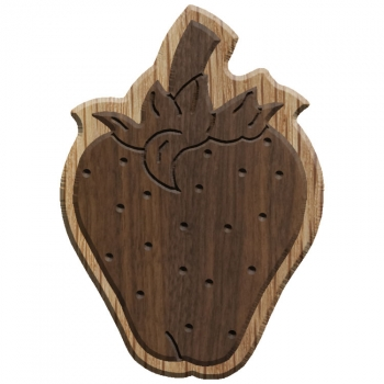 Image For Paddle Tramps Double-Raised Strawberry Wooden Symbol