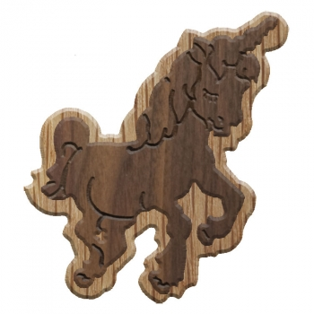 Image For Paddle Tramps Double-Raised Unicorn Wooden Symbol