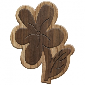Image For Paddle Tramps Double-Raised Violet Wooden Symbol