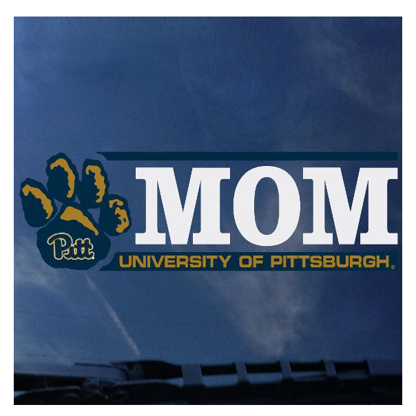 Image For Pitt Mom Pawprint Decal