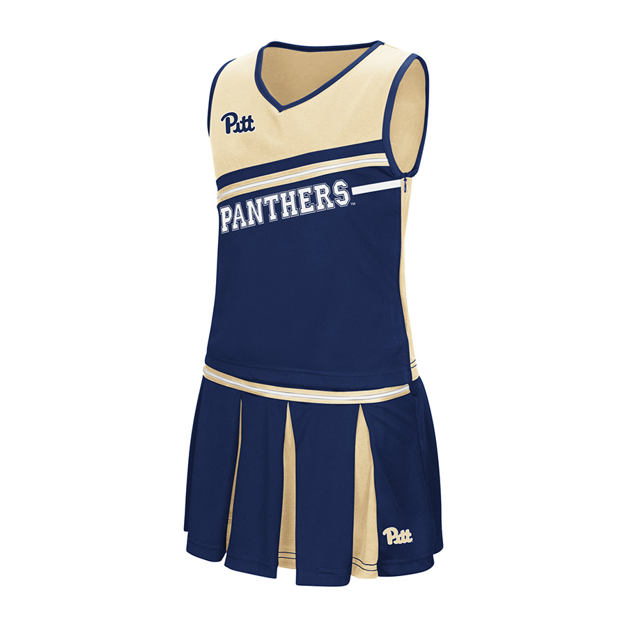 Image For Colosseum Girl's Pitt Panthers Cheerleader Outfit