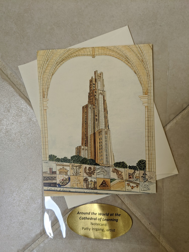 Image For Patty Irrgang Cathedral of Learning Rendition Note Card