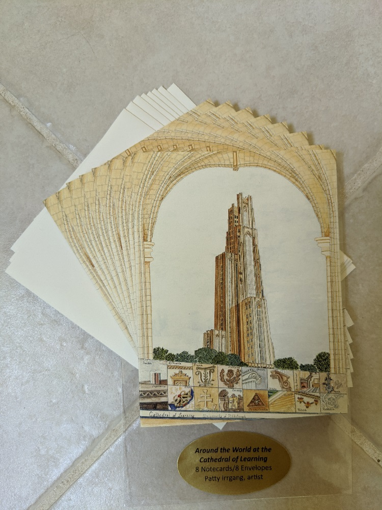Image For Patty Irrgang Cathedral of Learning Rendition Note Card (8)