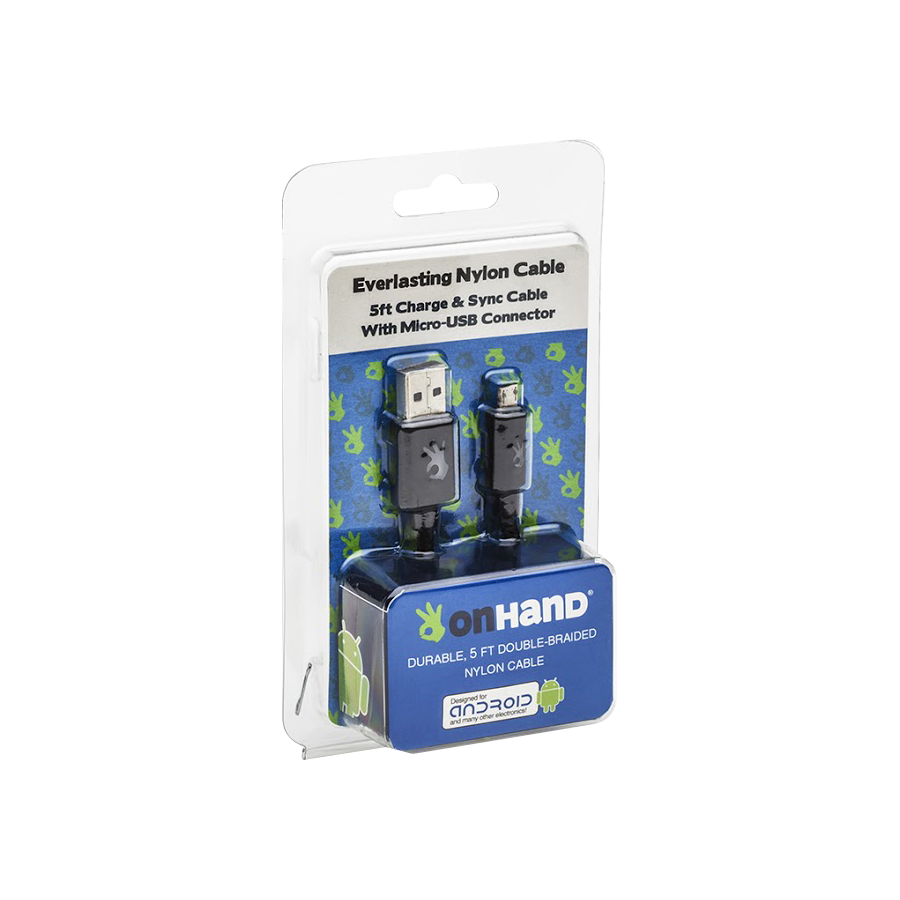 Image For OnHand USB to Micro USB Cable - Black