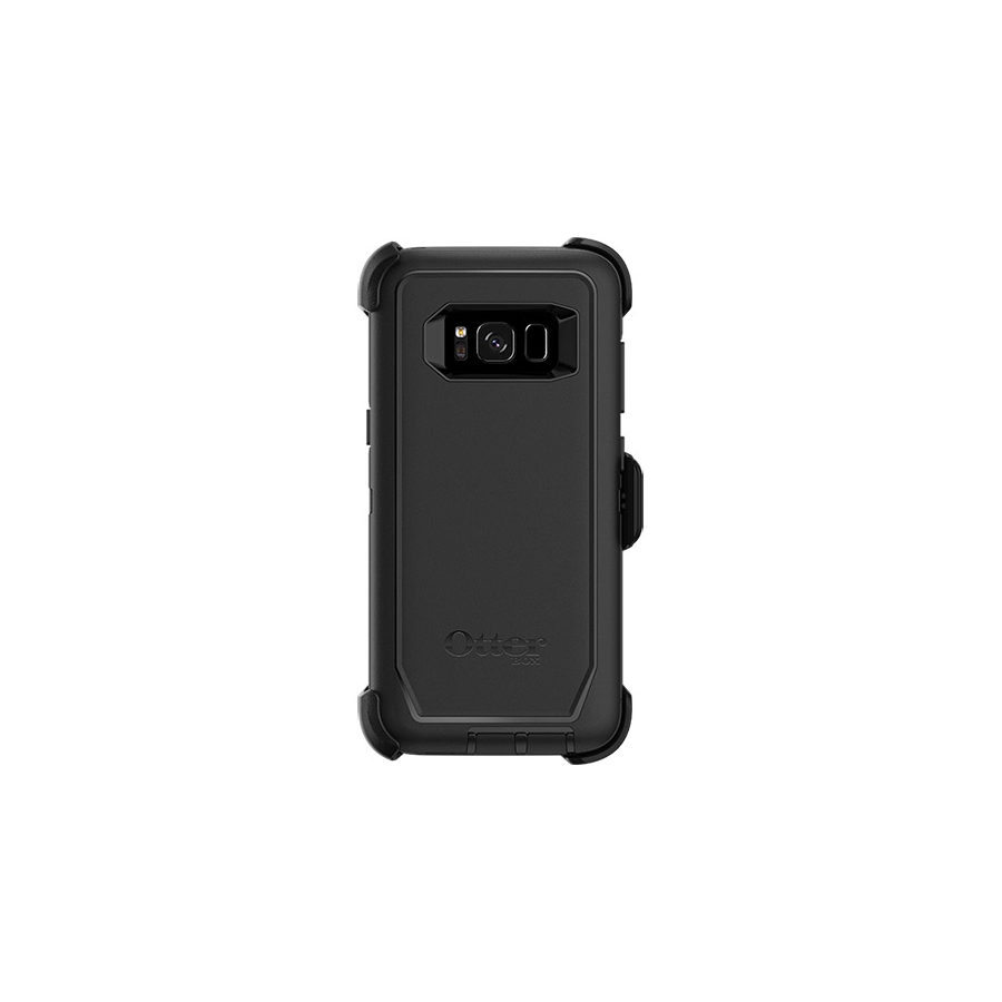 Image For Otterbox Defender Case w/ Holster for Galaxy S8 - Black