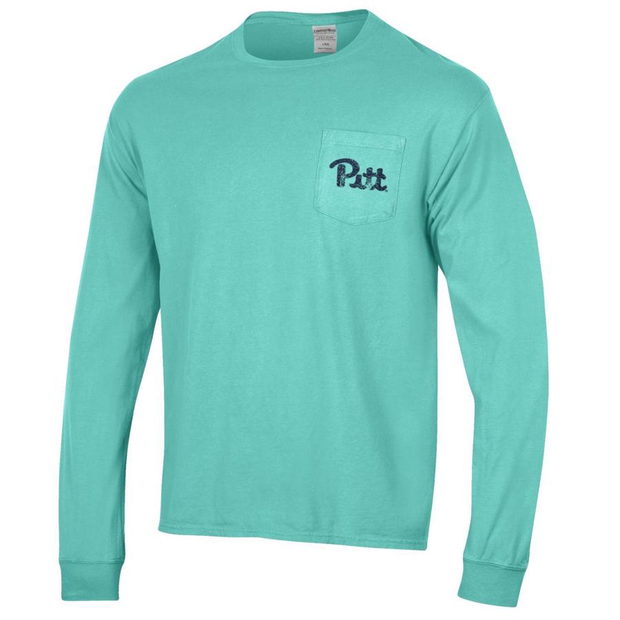 20a04712b245 Champion Unisex Pitt Script Comfort Wash Long Sleeve T-Shirt