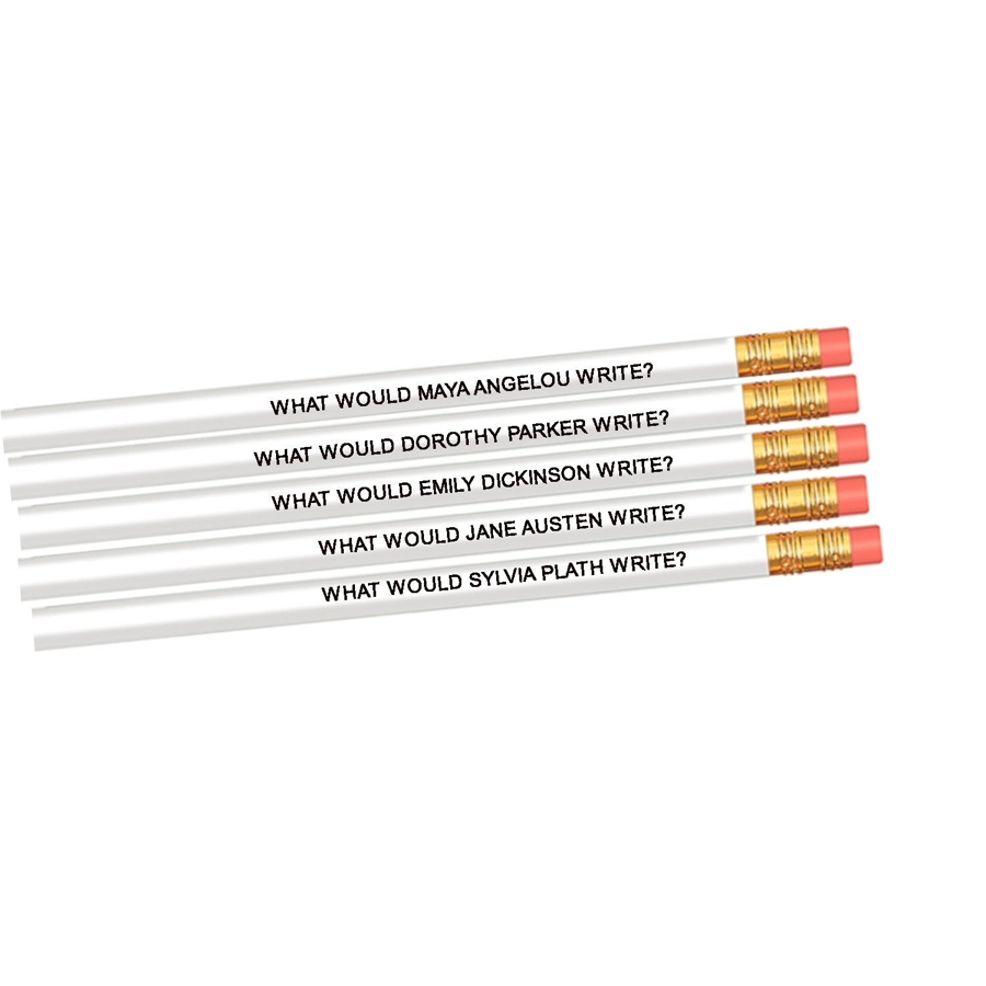 Image For FLY PAPER PRODUCTS – SET OF 5 AUTHOR PENCILS– FAMOUS FEMALE