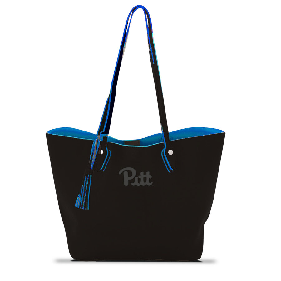 Image For MCM Duet Tote in Black/Royal