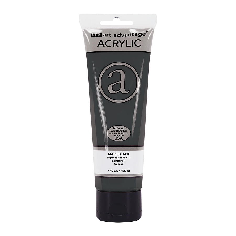 Image For Art Advantage 4 Oz. Acrylic Paint Tube - Mars Black