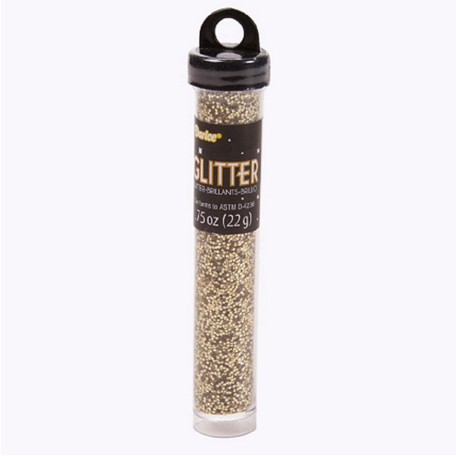 Image For Darice 3/4 Oz. Craft Glitter Tube - Gold