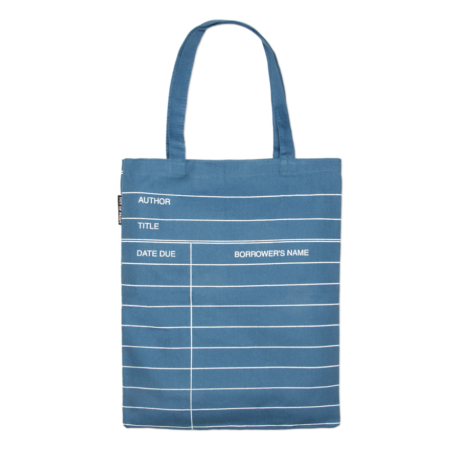Image For Out of Print Library Card Tote Bag