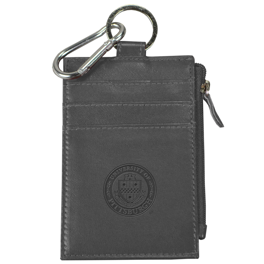 Image For LEATHER ZIP ID GREY