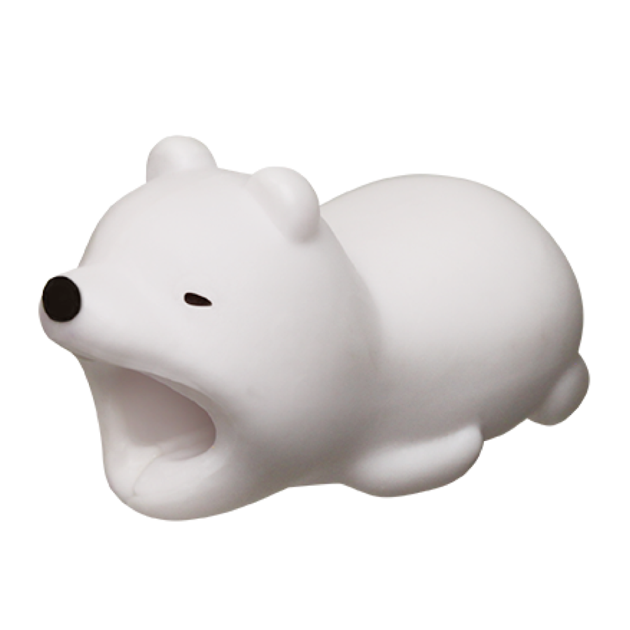 Image For Cable Bites iPhone Cable Holder - Polar Bear
