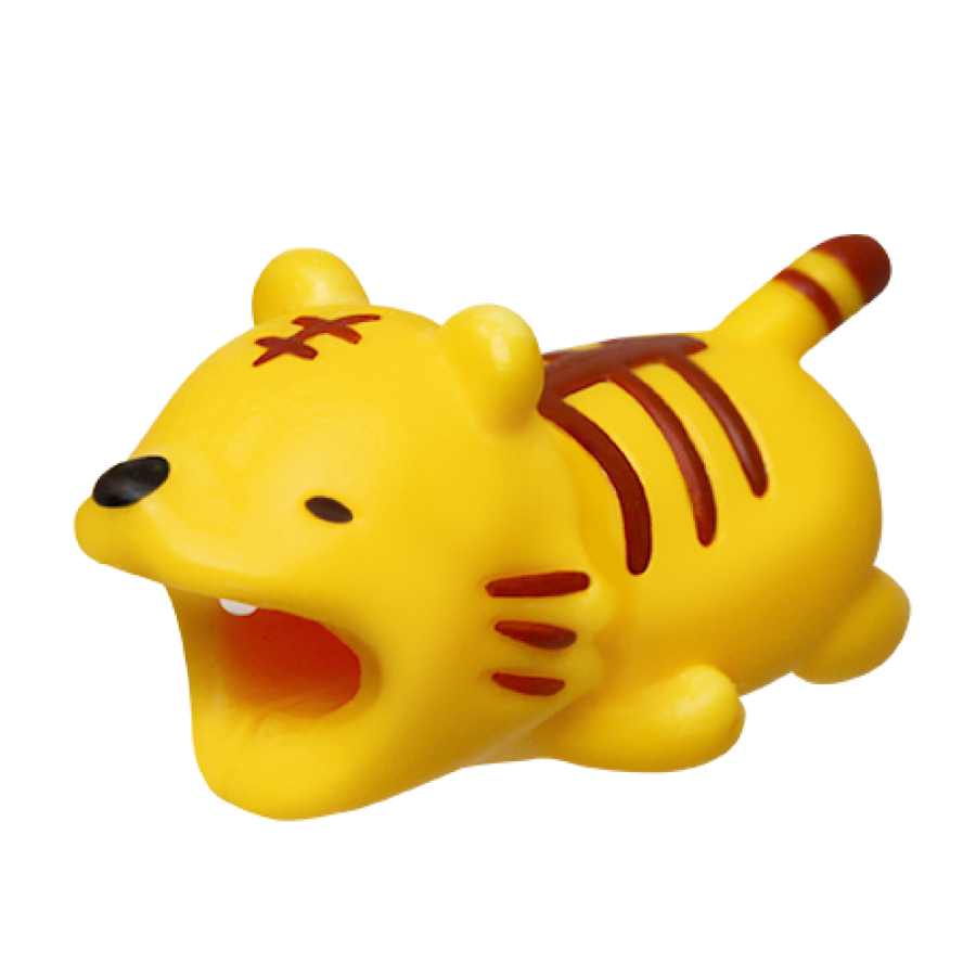 Image For Cable Bites iPhone Cable Holder - Tiger