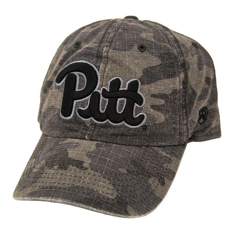Image For Top of the World Pitt Script Camo Hat
