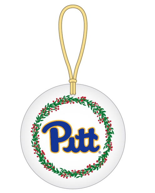 Image For Ornament Pitt Script with Wreath