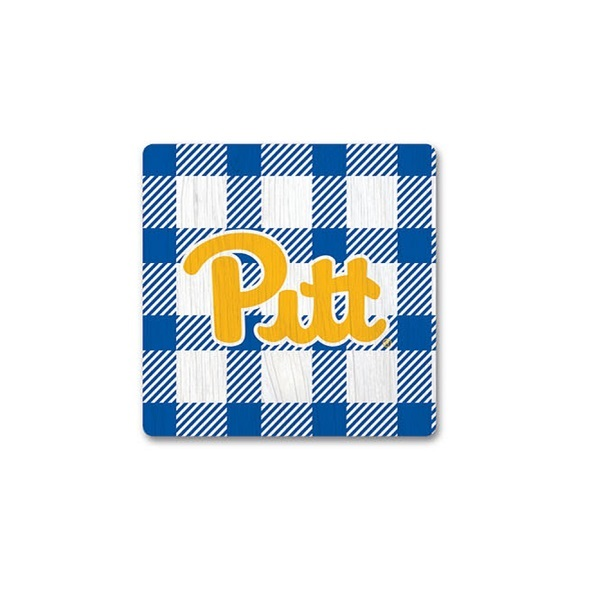 Image For Plaid Pitt Script Magnet