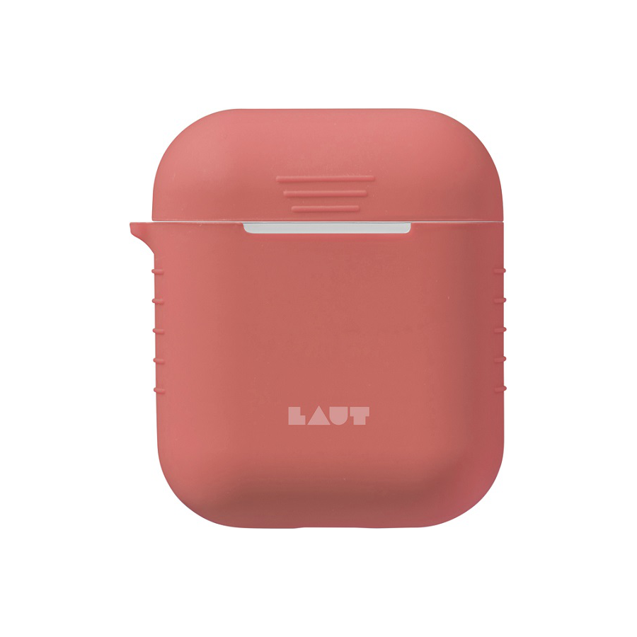 Image For LAUT AIRPOD CASE SILICONE CORAL