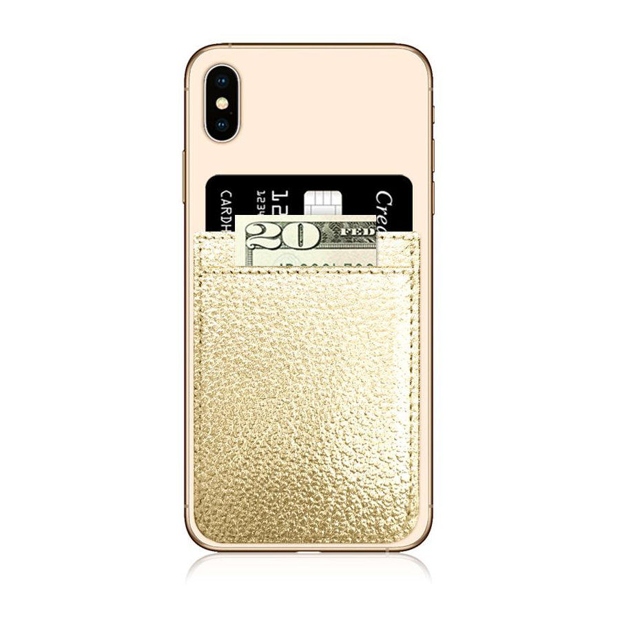 Image For iDecoz Faux Leather Phone Pocket - Gold