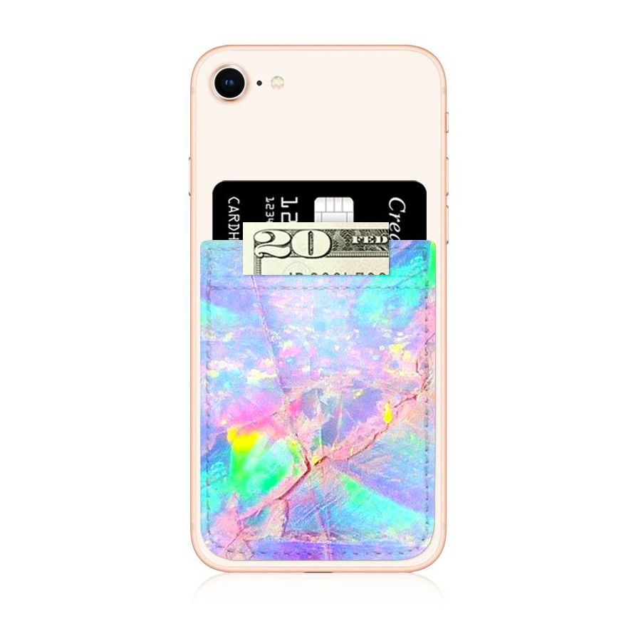 Image For iDecoz Faux Leather Phone Pocket - Opal Print